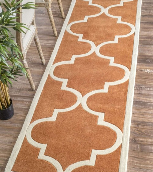 Weighted Approximately 8.5kg, The Rugs Is Washable. Kelly Moroccan Style  Dark Brown Rugs Has High Durability And It Has Good Resistance To Stain.